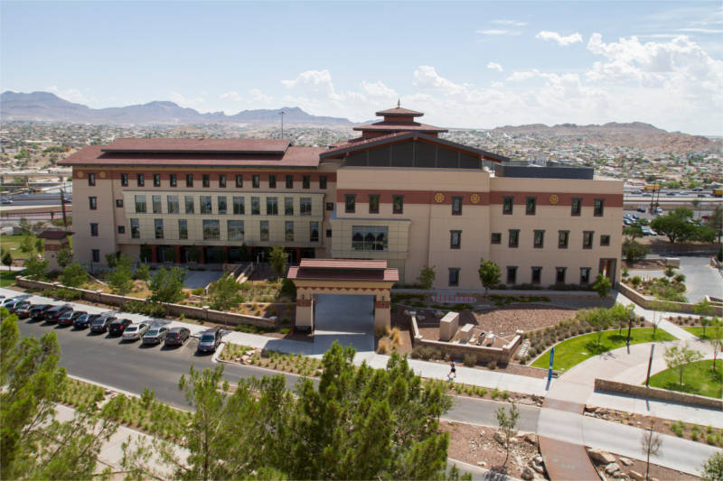 UTEP campus building from above