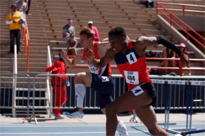 UTEP Hurdlers at a track meet