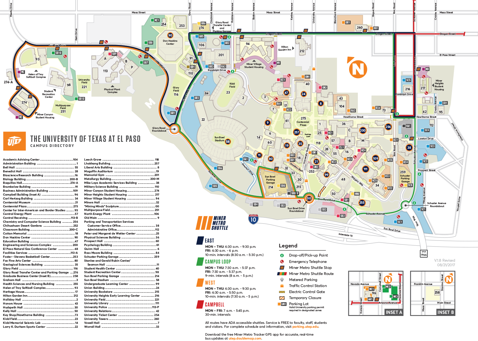 CAMPUS MAP | UTEP Online Visitor\'s Guide